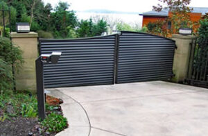 Residential Double Driveway Gate